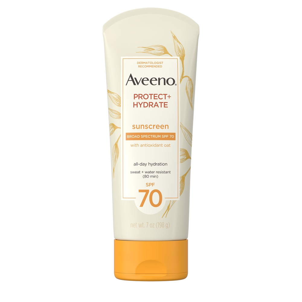 Aveeno Protect + Hydrate Sunscreen Lotion with Broad Specturm