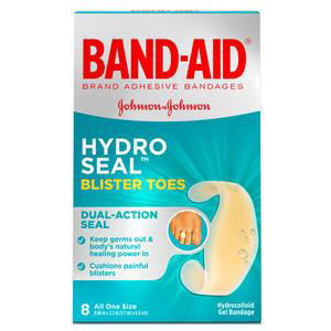 Band-Aid Hydro Seal Blister Toe Bandage, 0.66 x 2.5 Inch
