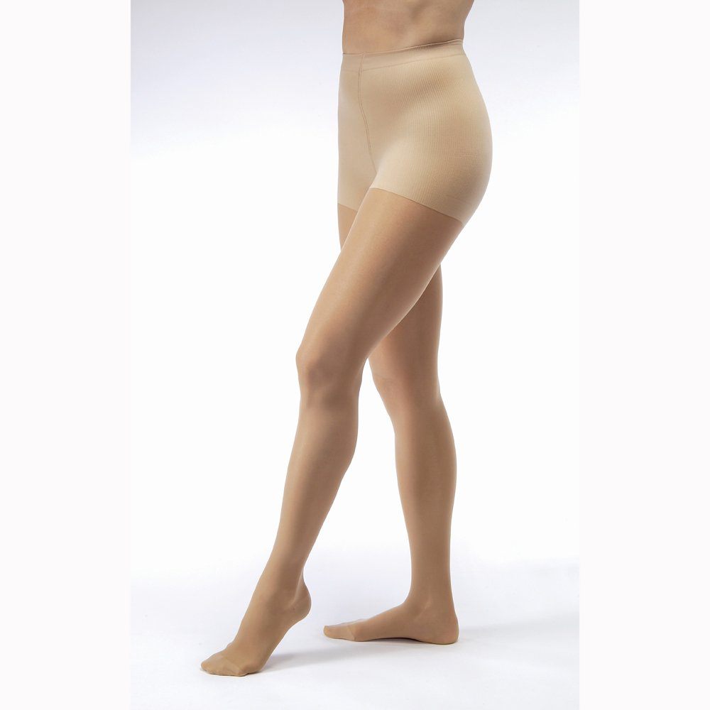 Jobst UltraSheer X-Firm Compression Pantyhose, Closed Toe, X-Large, Sun Bronze