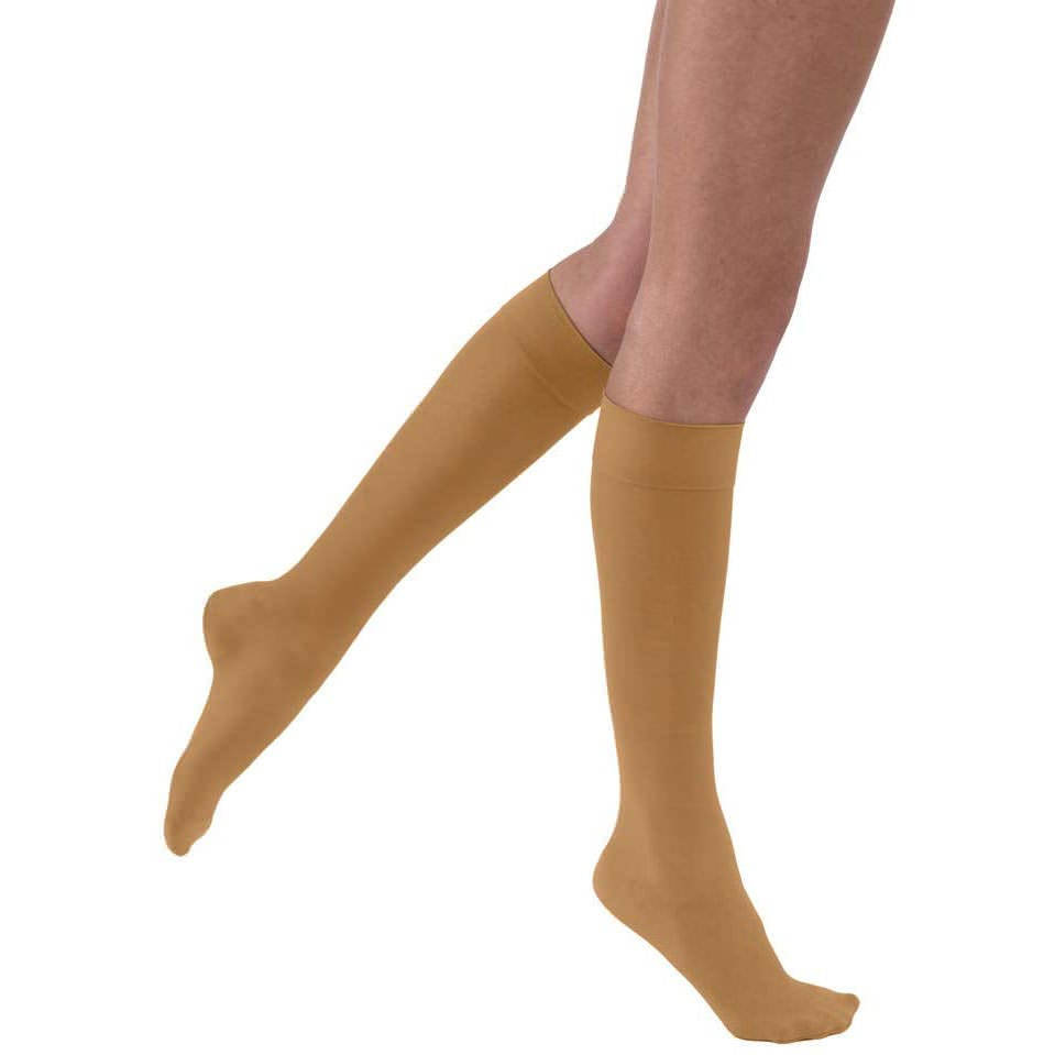 Jobst Ultrasheer Knee-High Firm Compression Stocking,Small Petite, Suntan