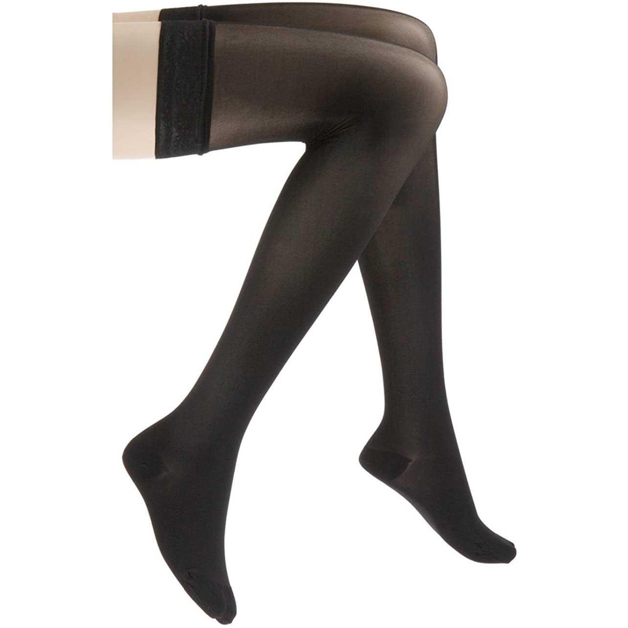 Jobst UltraSheer Thigh-High Compression Stocking, Medium, Classic Black
