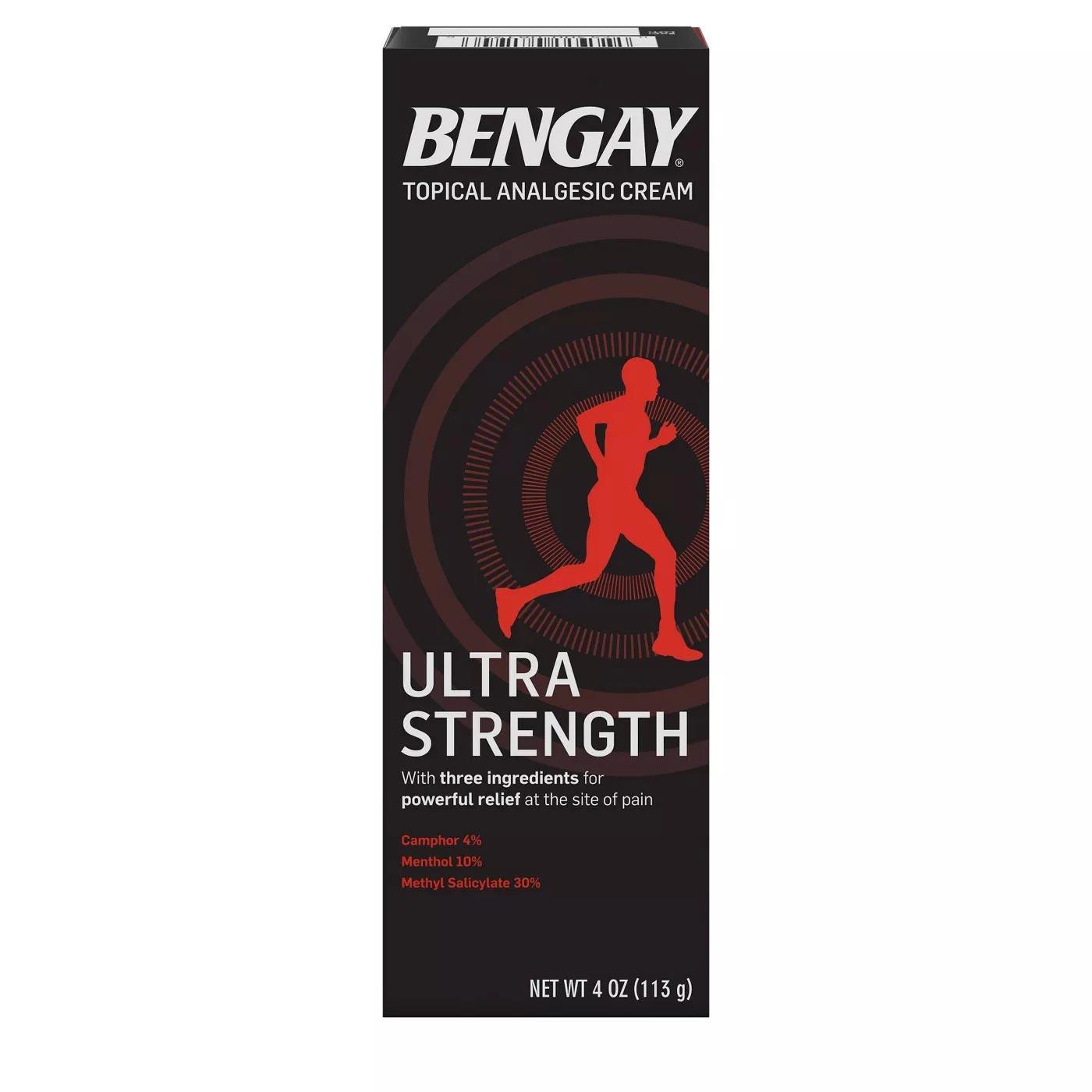 Bengay Ultra Strength Topical Analgesic Cream, 4 oz