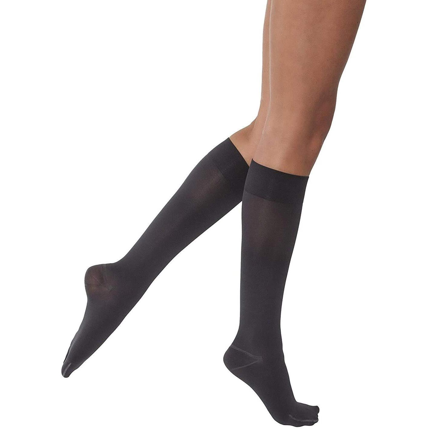 Jobst Opaque Knee High Compression Stockings with SoftFit Technology Band