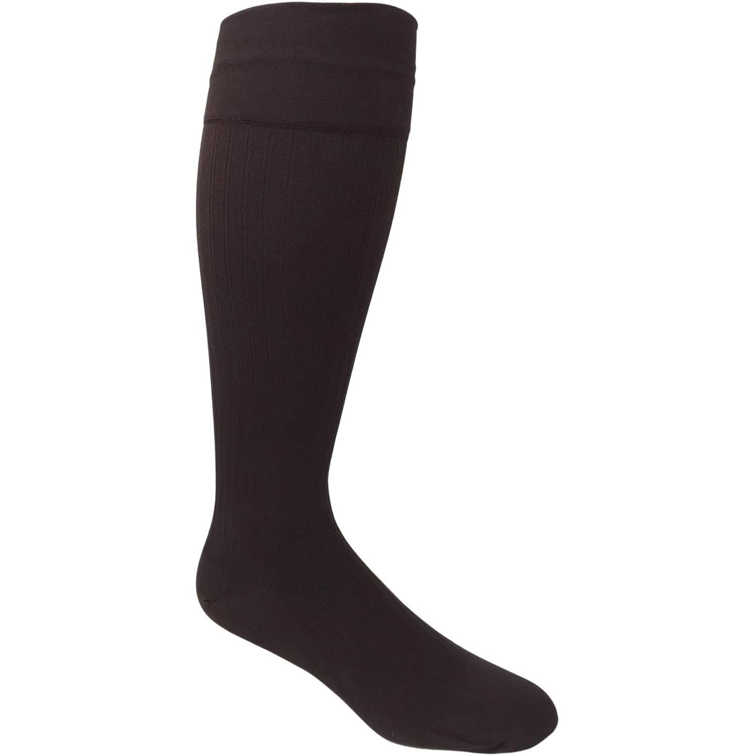 Jobst Knee-High Firm Compression Socks with SoftFit, Long Size 5, Brown