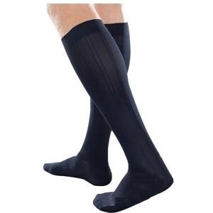Jobst Men Knee-High Moderate Compression Socks, Regular Size 2, Navy