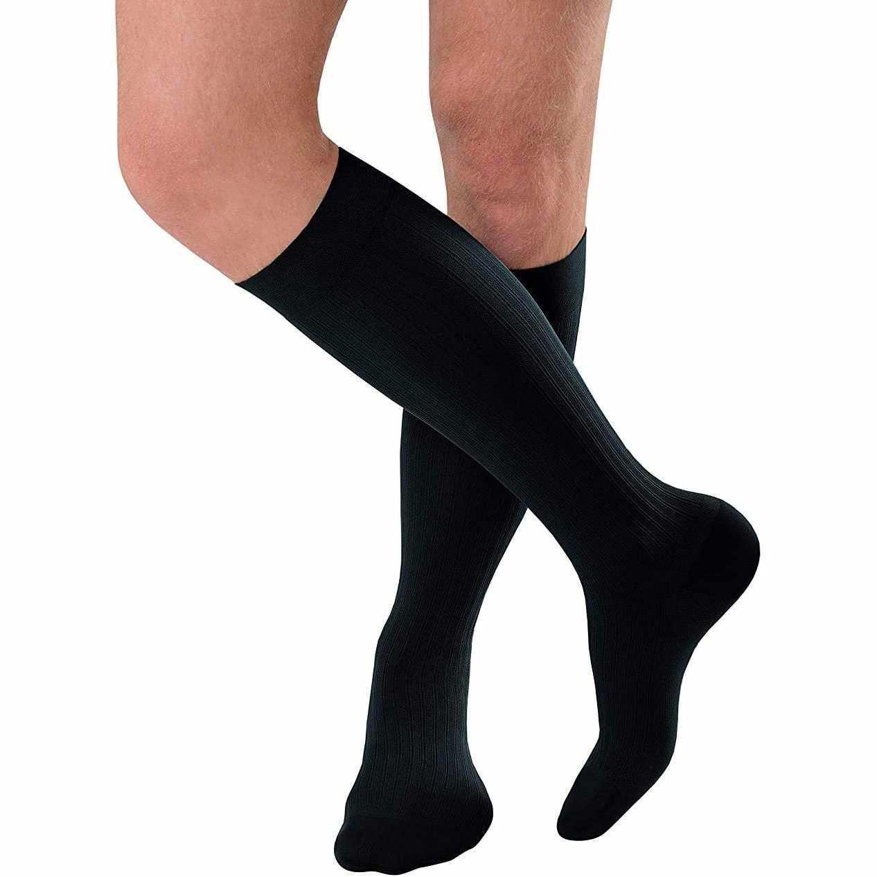 Jobst Men Knee-High X-Firm Compression Socks, Regular Size 2, Black