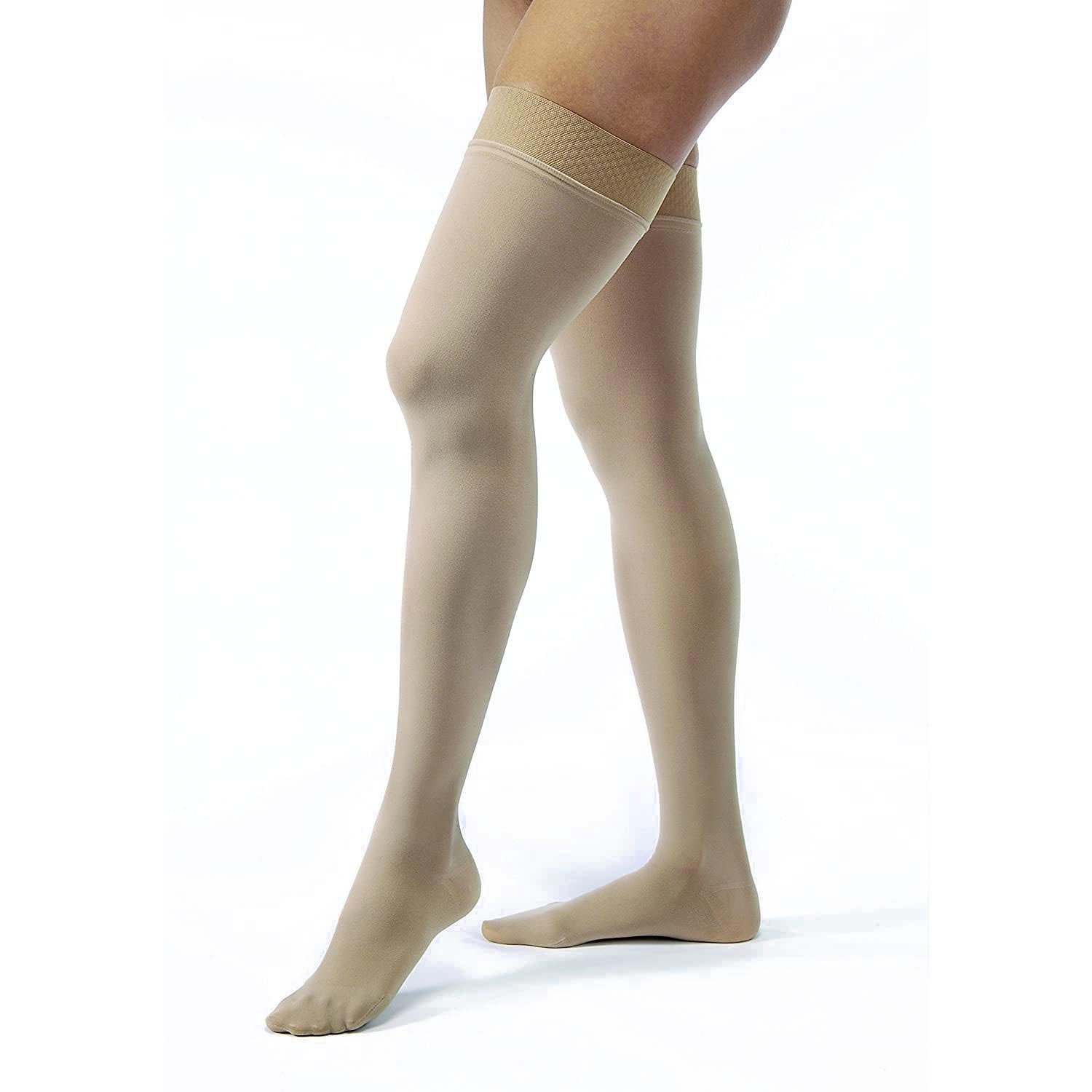 Jobst Opaque Thigh High Compression Stockings with Silicone Sensitive Top