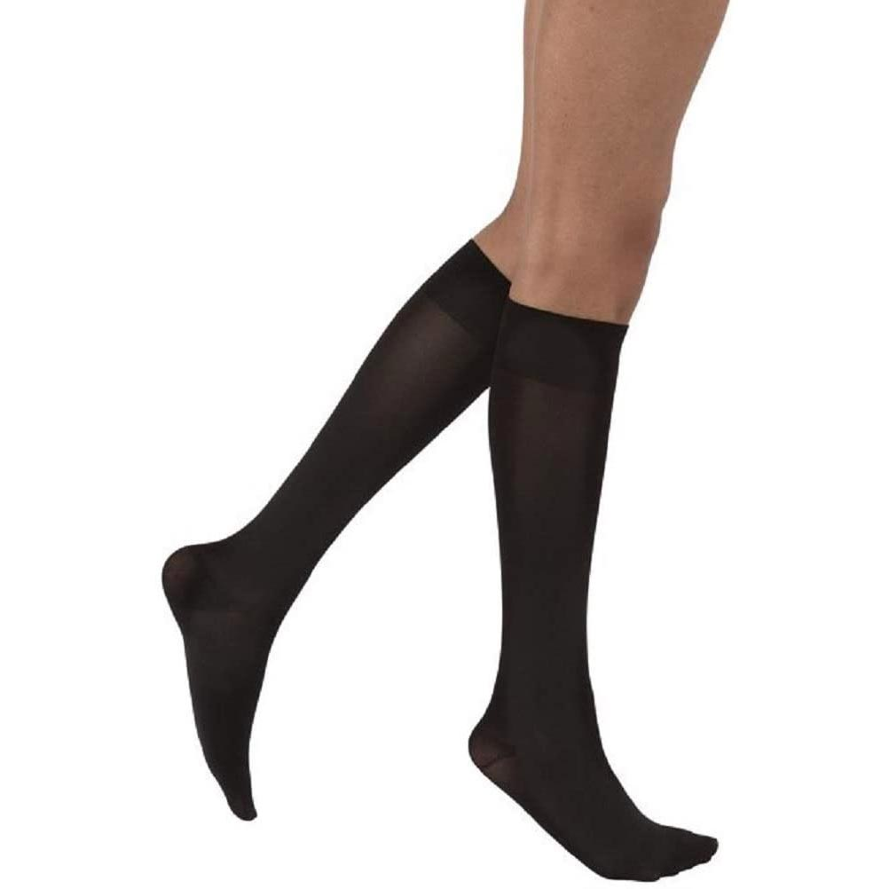 Jobst SoftFit Opaque Firm Compression Stocking, Closed Toe, Small, Black