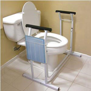 Jobar Deluxe Safety Toilet Support