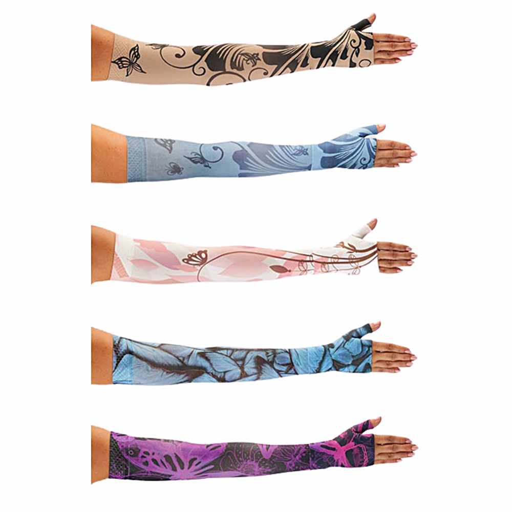 Juzo Soft Compression Arm Sleeve with Silicone Border, Butterfly-Prints