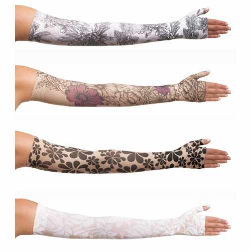 Juzo Soft Compression Arm Sleeve with Silicone Border, Floral - Prints