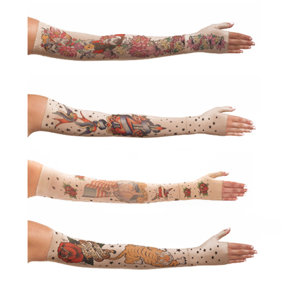 Juzo Soft Compression Arm Sleeve with Silicone Border, Tattoo - Prints