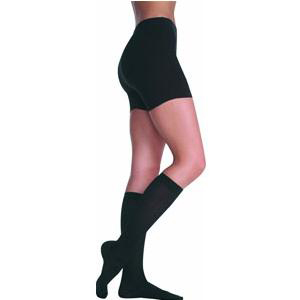 Juzo Soft Knee-High Compression Stockings, Size 2, Black