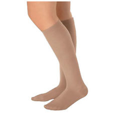 Juzo Soft Knee-High Full Foot Compression Stockings, Beige Size 3 Short