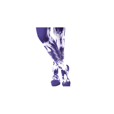 Juzo Soft Thigh-High Firm Stocking, Size 1, Royal Blue/White Tie-Dye
