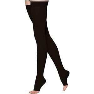 Juzo Soft Thigh-High Compression Stockings, Size 1, Black