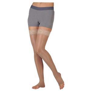 Juzo Soft Thigh-High Compression Stockings, Size 4, Beige