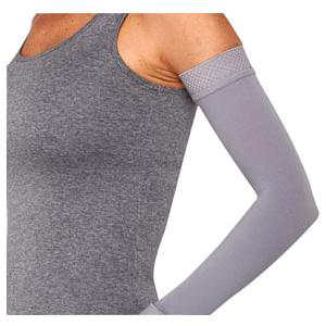 Juzo Soft Arm Sleeve with Silicone Border, 20-30 mmHg, Size 1 Regular, Misty Gray