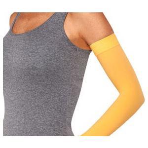 Juzo Soft Arm Sleeve with Silicone Border, 20-30 mmHg, Size 1 Regular, Mango