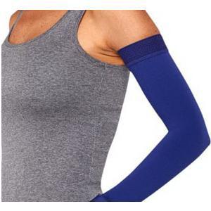 Juzo Soft Arm Sleeve with Silicone Border, 20-30 mmHg, Size 1 Regular, Midnight