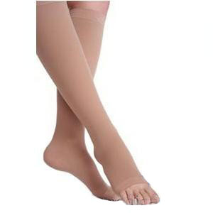 Juzo Soft Opaque Knee-High Compression Stockings, Size 4, Black