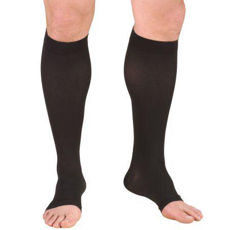 Juzo Soft Knee-High Open Compression Stocking, 30-40 mmHg, Size 4, Black