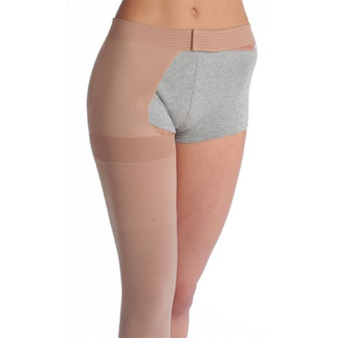 Juzo Soft Thigh-High Compression Stockings, Beige, Size 2 Regular