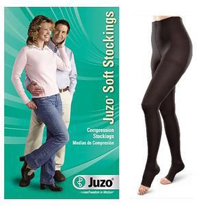 Juzo Soft Opaque Compression Pantyhose, Size 2, Black