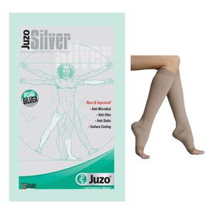 Juzo Soft Silver Knee-High Compression Stocking, 20-30 mmHg, Size 1, Beige