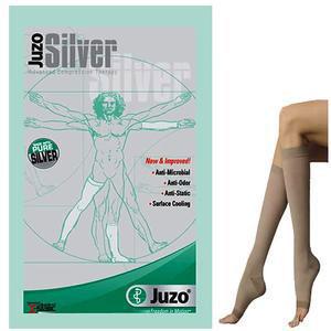 Juzo Silver Soft Knee-High Compression Stocking, Beige