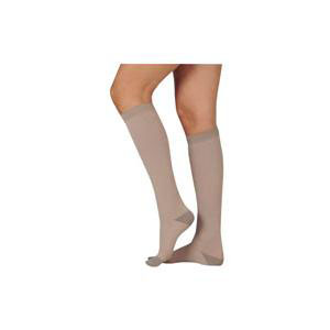 Juzo Silver Soft Knee-High Compression Stockings, Size 4 Short, Beige