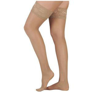 Juzo Naturally Sheer Thigh-High Compression Stocking, Beige