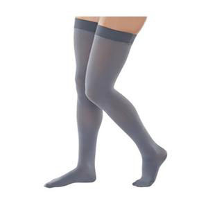 Juzo Naturally Sheer Thigh-High Compression Stocking, Misty Gray