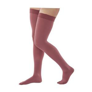 Juzo Naturally Sheer Thigh-High Compression Stocking, Grateful Red