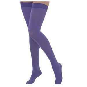 Juzo Naturally Sheer Thigh-High Compression Stocking, Purple Haze