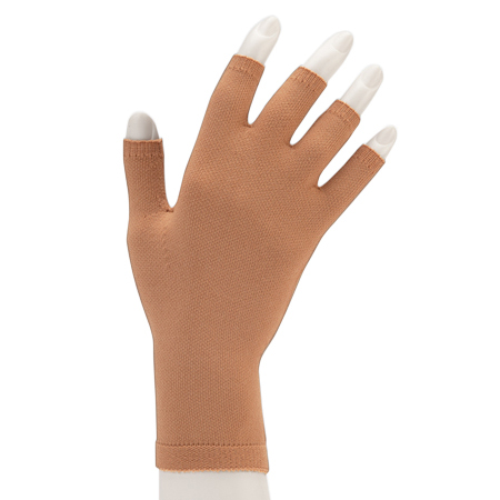 Juzo Compression Gauntlet with Finger Stubs, 20-30 mmHg, Small, Beige