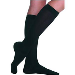 Juzo Hostess Women's Knee-High Sheer Compression Stockings, Size 3 Short, Black