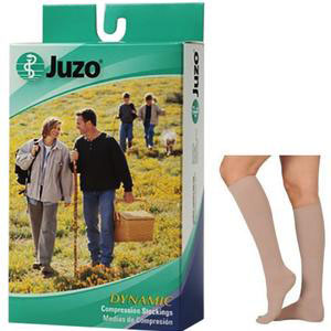 Juzo Dynamic 20-30 mmHg Knee-High Compression Stockings, Beige, Size 3