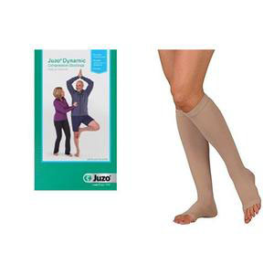 Juzo Dynamic Knee-High Compression Stocking, Size 4 Short, Beige