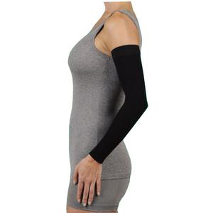 Juzo Dynamic Silicone Border Arm Sleeve, 20-30 mmHg, Size 4 Regular, Black
