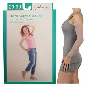 Juzo Dynamic Silicone Border Arm Sleeve, 20-30 mmHg, Max Regular Size 5, Beige