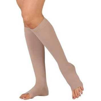 Juzo Dynamic Knee-High Compression Stockings, Size 4 Regular, Beige