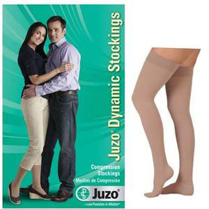 Juzo Dynamic Thigh-High Compression Stocking, Full Foot, Short, Size 1, Beige