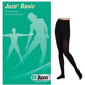 Juzo Basic Compression Pantyhose, Full Foot, Size 4, Black