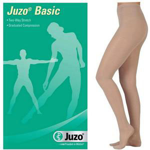 Juzo Basic Compression Pantyhose, Full Foot, Size 4, Beige