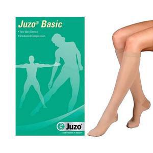Juzo Basic Knee-High Compression Stockings Size 2 Regular, Beige