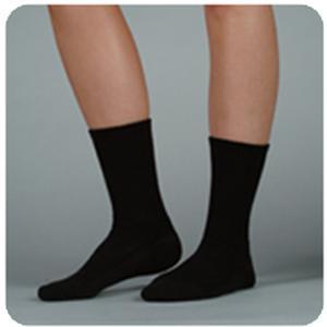 Juzo Silver Sole Crew Full-Foot Support Socks, 12-16 mmHg, Medium, Black