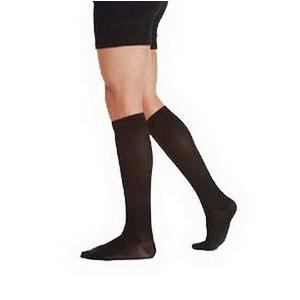 Juzo Latex-Free Knee-High Cotton Socks, Full Foot, Black Size 5