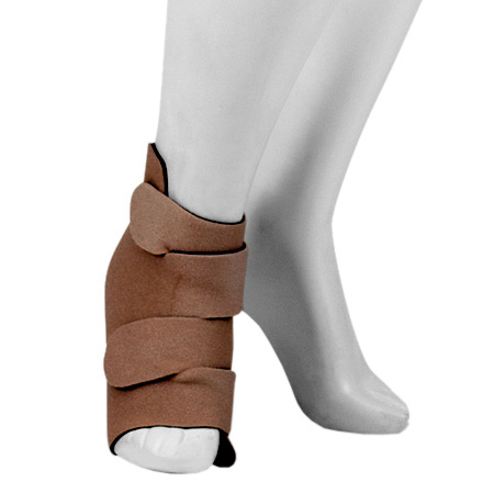 Juzo Foot Compression Wrap, 30-60 mmHg, Small, Black and Beige Reversible