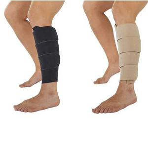Juzo Calf Compression Wrap, Black and Beige Reversible